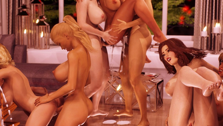 Xmas Rampage futa dickgirls gangbang group orgy featured poster