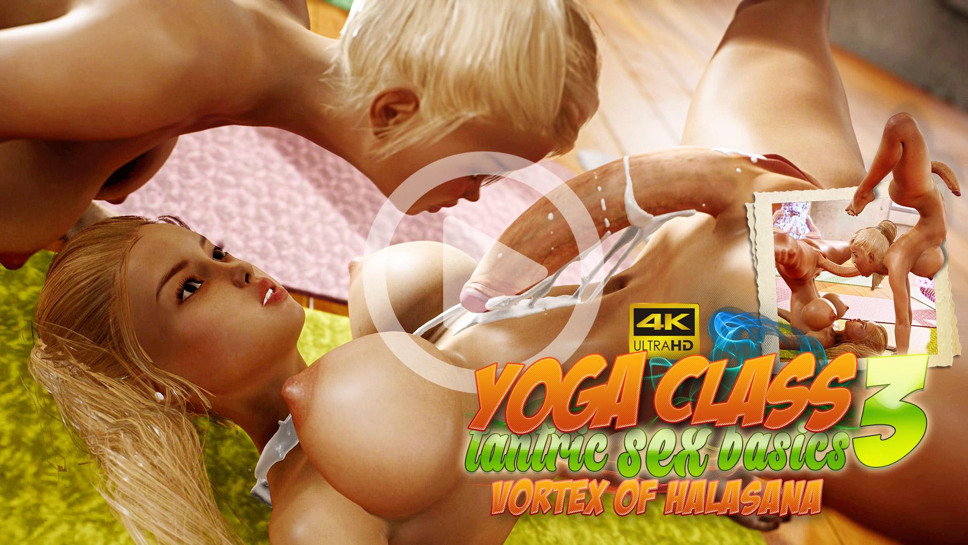 Yoga Class - Tantric Sex Basics 3. Vortex Of Halasana 3DX video trailer