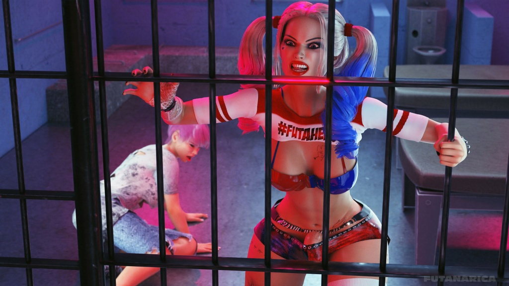 Cellmate - Familiarity Harley Quinn hate cops and ready to fight for her new cellmate Delaney