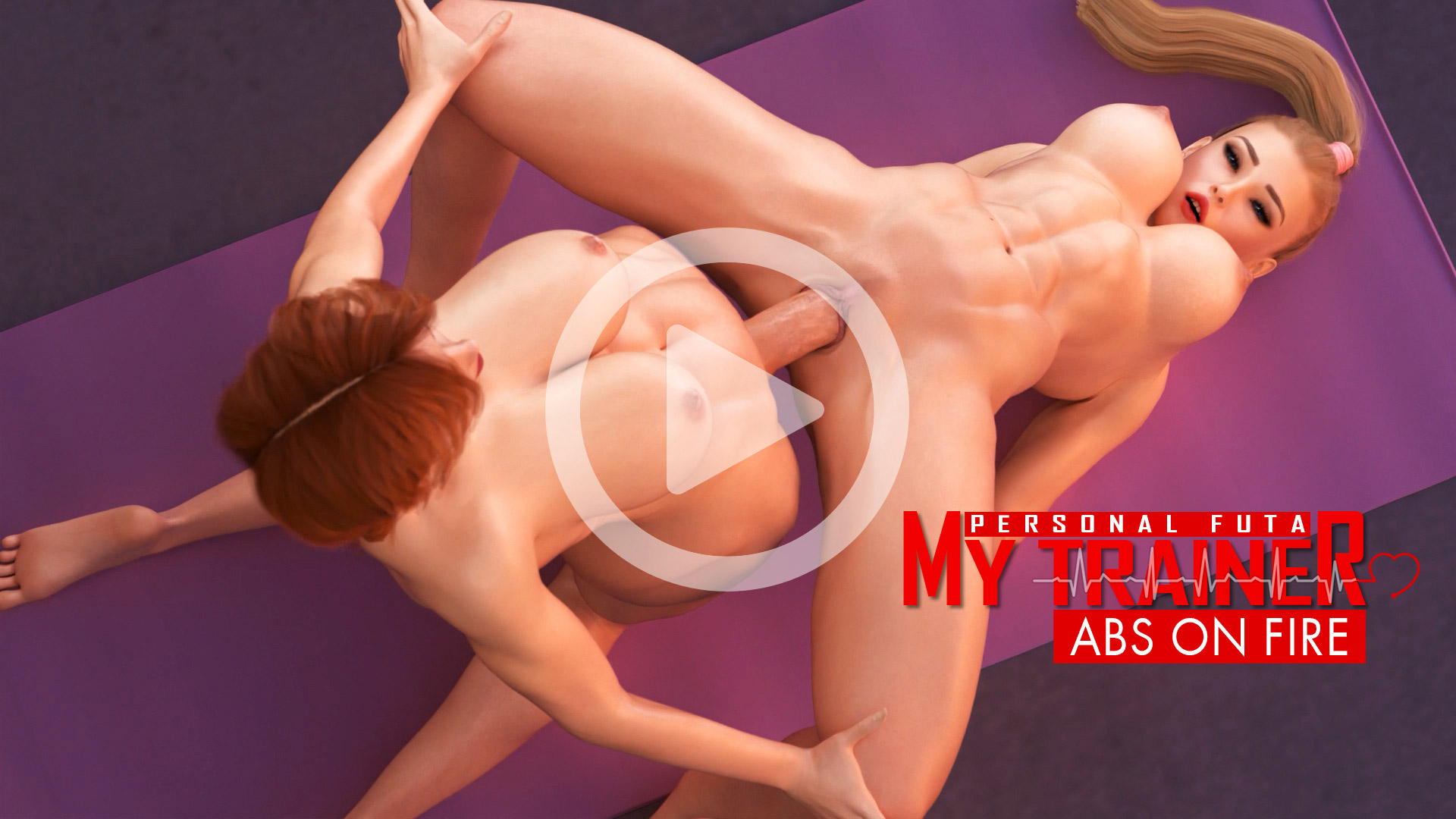 My Personal Futa Trainer - Abs On Fire animation poster