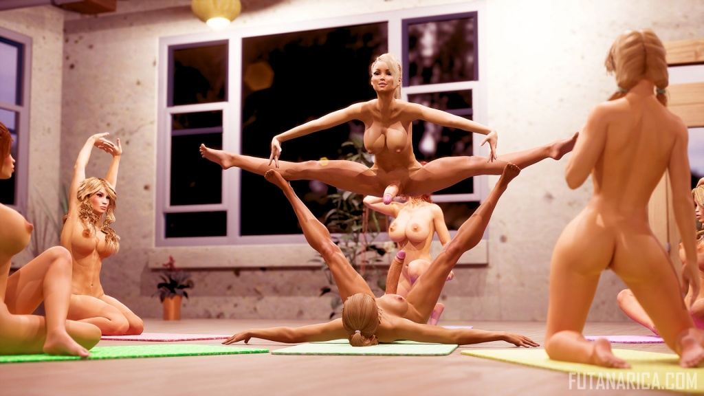 Yoga Class 4 split for hard fuck