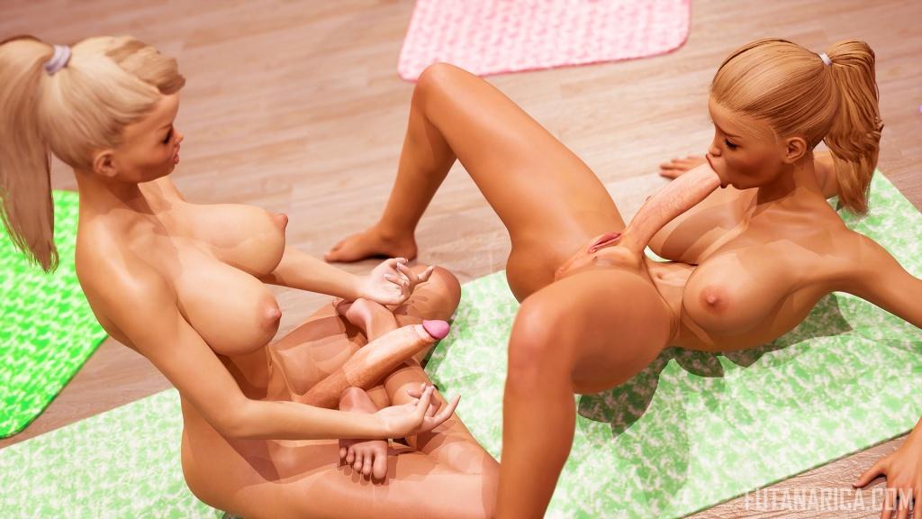 Yoga Class - Tantric Sex Basics 4 futa yoga mster Mirna huge futanari dick self sucking blowjob
