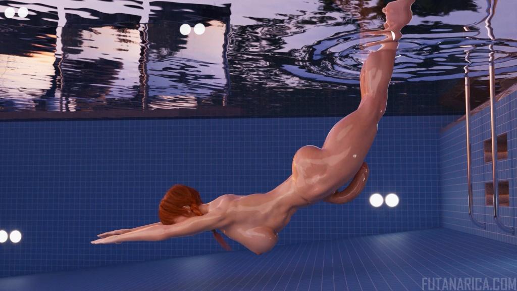 My Personal Futa Trainer - Beast Mode futa workout trainer pool jump animation